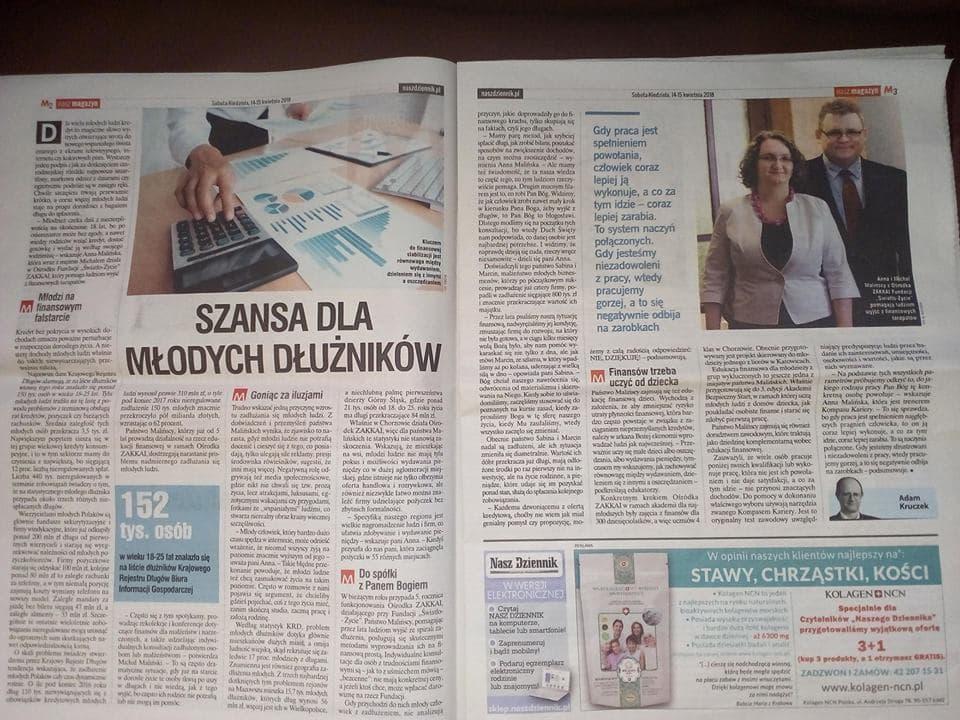 Nasz Dziennik – Szansa dla młodych dłużników