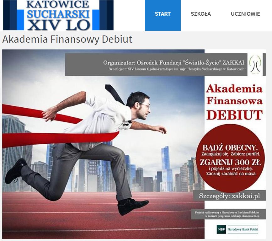 XIV Liceum Ogólnokształcące – Akademia Finansowy Debiut