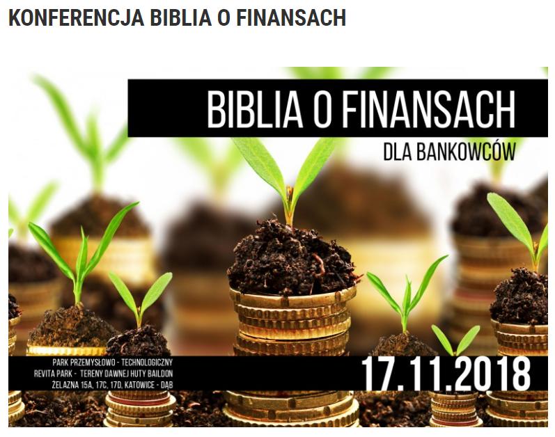 """WST – Konferencja """"Biblia o finansach"""""""